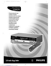 Philips CDR570BK Instructions For Use Manual