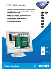 philips 170b manuals rh manualslib com philips monitor 170b user manual Philips LCD TV Manual