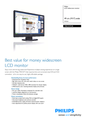 Philips 190CW7CS/96 Monitor Drivers for Windows XP