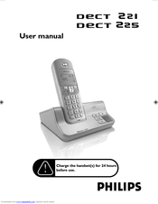 Philips DECT225 User Manual