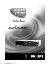 Philips DV900VHS01 Hook-up Manual