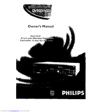 Philips DV900VHS01 Owner's Manual