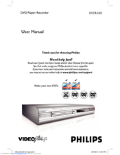 Philips DVDR3305 User Manual