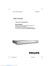 Philips DVP3000K User Manual