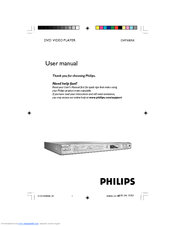 Philips DVP3005K/74 User Manual