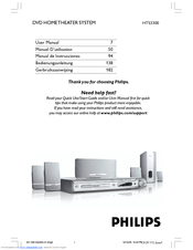 philips hts3300 12 manuals rh manualslib com Home Outlet Philips Home Theater System Manual