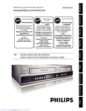 philips dvdr3545v dvdr vcr combo manuals rh manualslib com TV VCR Combo Magnavox DVD Recorder VCR Combo