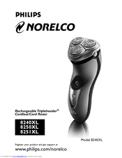 philips norelco 8240xl owner s manual pdf download rh manualslib com Norelco 8240XL Walmart Best Norelco Shaver for Men