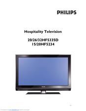 Philips 20HF5335D Owner's Manual