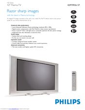 PHILIPS 42PF9936/37 TECHNICAL SPECIFICATIONS Pdf Download