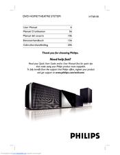 philips hts8100 user manual pdf download rh manualslib com Philips Soundbar with Subwoofer Manual Philips Soundbar with Subwoofer