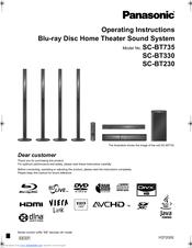 panasonic sabt230 blu ray home theater system manuals rh manualslib com panasonic home theater sa- ht930 manual panasonic home theater system manual