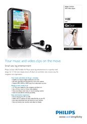 philips sa1vbe08k gogear vibe 8 gb digital player manuals rh manualslib com