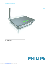 philips wireless router snb5600 manuals rh manualslib com Philips User Guides Philips Universal Remote User Manual