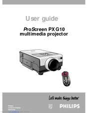 philips lc1041 proscreen pxg10 xga lcd projector manuals rh manualslib com LCD Overhead Projector epson lcd projector user manual