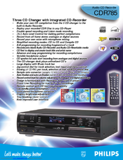 Philips CDR785 Specifications