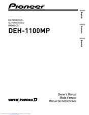 Pioneer DEH-1100MP Owner's Manual