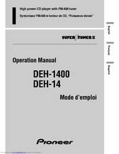 Pioneer DEH-1400 Operation Manual