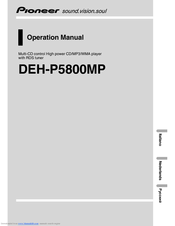 Pioneer DEH P5800MP Operation Manual
