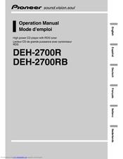 pioneer deh 2700 manuals rh manualslib com Pioneer Deh P2000 Wiring-Diagram Pioneer Deh 1400 Manual