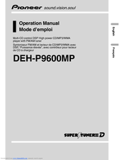 Pioneer DEH-P9600MP Operation Manual