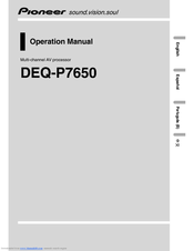 pioneer deq p manuals manuals and user guides for pioneer deq p7650 we have 2 pioneer deq p7650 manuals available for pdf operation manual installation manual