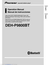 Pioneer DEH-P9800BT - Radio / CD Operation Manual