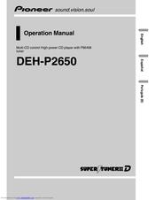 pioneer supertuner iii d deh p2650 manuals rh manualslib com pioneer keh 2650 user manual pioneer keh-2650 manual