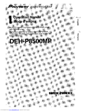 Pioneer deh-p850mp deh-p8500mp crt3060 supplement service manual.