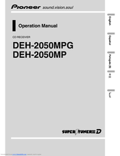 Pioneer DEH-2050MP Operation Manual