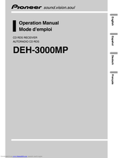 Pioneer DEH-3000MP Operation Manual