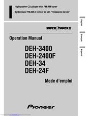[CSDW_4250]   Pioneer DEH-34 Manuals | ManualsLib | Wiring Diagram Pioneer Deh 34 |  | ManualsLib