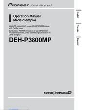 pioneer deh p3800mp radio cd manuals rh manualslib com pioneer deh 6800mp manual pioneer deh 2800mp manual