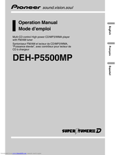Pioneer DEH-P5500MP Operation Manual