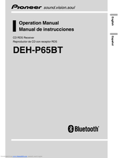 Pioneer DEH-P65BT Operation Manual