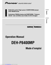 Pioneer DEH-P8400MP Operation Manual