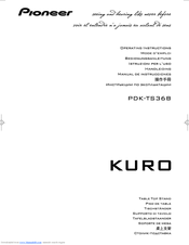 Pioneer KURO PDK-TS36B Operating Instructions Manual