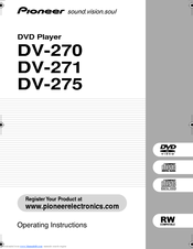 Pioneer DV-275-S Operating Instructions Manual