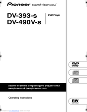 Pioneer DV-393-S Operating Instructions Manual