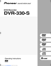 pioneer dvr 310 operating instructions manual pdf download rh manualslib com pioneer dvr-310-s dvd recorder manual Dish DVR Manual