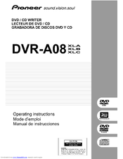 Pioneer DVR-A08 Operating Instructions Manual