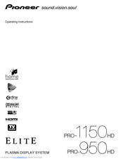 Pioneer elite purevision pro 940hd manuals.