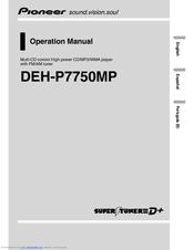 pioneer deh p7750mp manuals. Black Bedroom Furniture Sets. Home Design Ideas