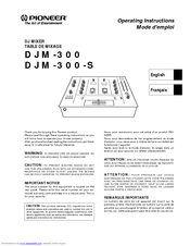 Pioneer 300-S Operating Instructions Manual