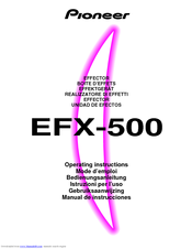 Pioneer EFX-500 Operating Instructions Manual
