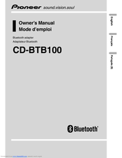 Pioneer CD-BTB100 Owner's Manual