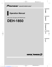 Pioneer DEH-1850 Operation Manual