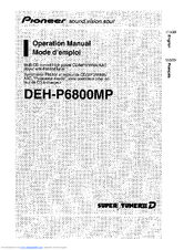 pioneer deh p6800mp operation manual pdf download rh manualslib com pioneer deh-p6800mp manual pdf pioneer deh-p6800mp service manual