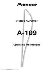 pioneer a 109 operating instructions manual pdf download rh manualslib com