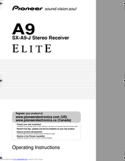 Pioneer A9 Operating Instructions Manual